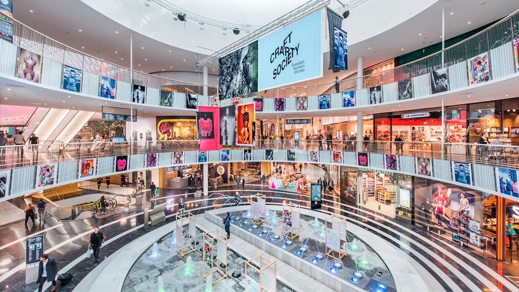 Mall of Scandinavia i Solna är Sveriges största galleria.