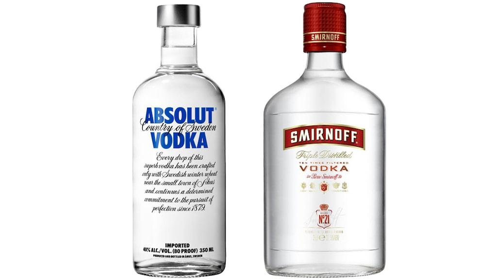 Absolut Vodka och Smirnoff är världens kanske två mest kända vodka-märken.