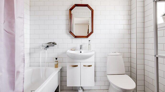 Ett av badrummen. Se fler bilder i texten nedan.