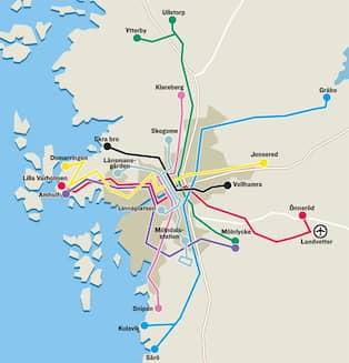 Heden Goteborg Karta.Har Ar Goteborgs Nya Bussnat Gt