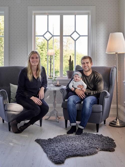 Elin och Tobias började renovera huset i januari 2017, och sex månader senare kunde de flytta in.