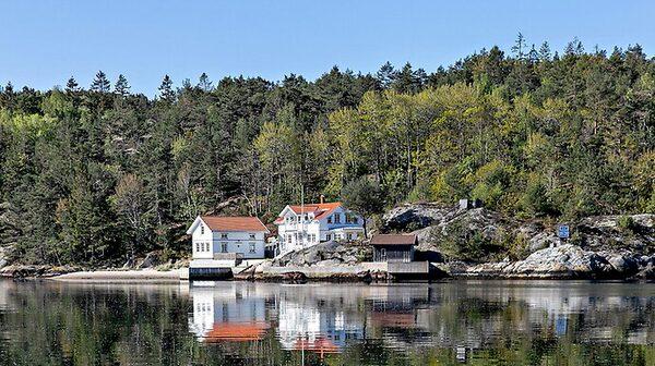 Nybyggt fritidshus på Daftö-Valö söder om Strömstad.