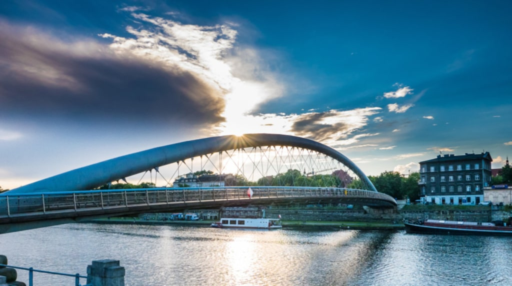 <p>Vacker och modern arkitektur finns överallt i Krakow.</p>