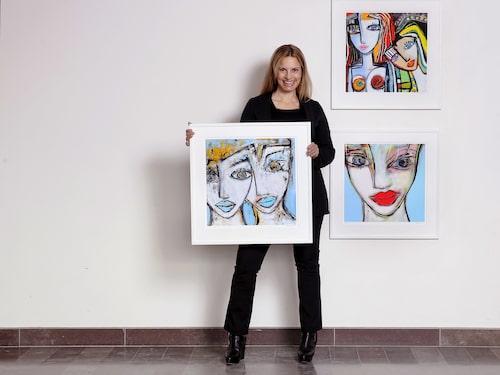 Camilla Lundén målar gärna kvinnor.