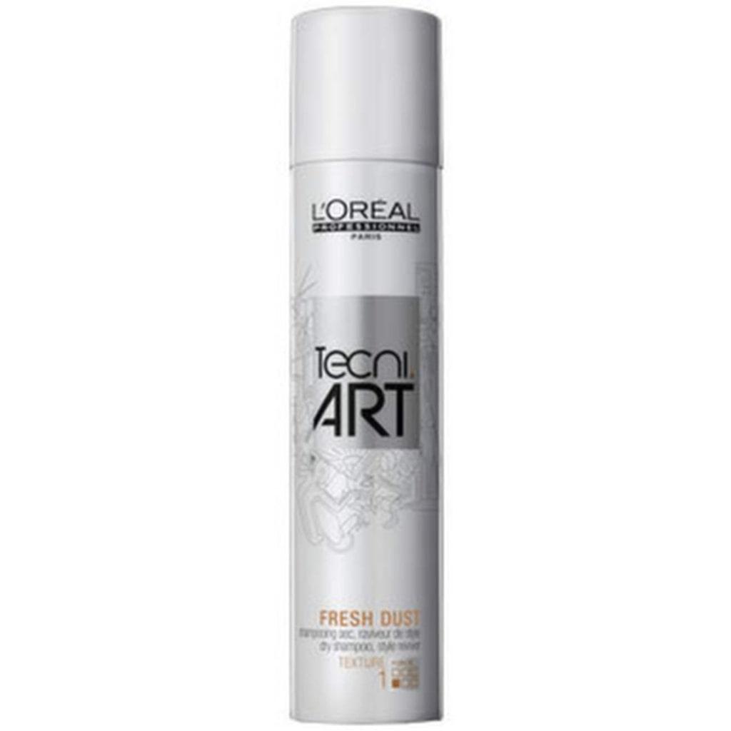 """<strong>L'Oréal, TecNi Art Force 1 Fresh Dust , 150 ml, 195 kronor</strong><br><exp:icon type=""""wasp""""></exp:icon><exp:icon type=""""wasp""""></exp:icon><br>Torrschampo som absorberar upp oljan i hårbotten och återupplivar håret. Doftar fräscht, men kräver ganska mycket jobb och lämnar ett hår som ser ok ut – men fortfarande känns smutsigt och tungt."""