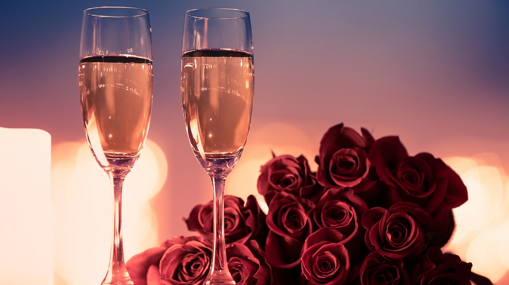 Rosa bubbel blir är alltid lite extra festligt.