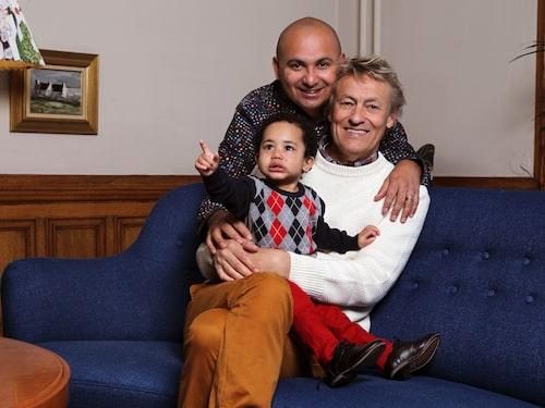 Lars Lerin, maken Junior och sonen Rafael, 2.