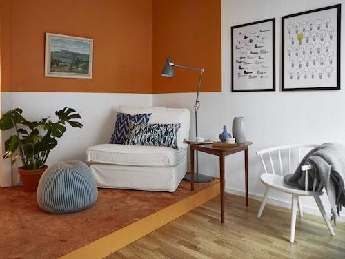 Det aktiva hemmet. Här har ytor frigjorts genom att flytta in sängen i det minsta rummet.