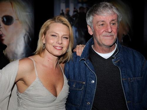 """Helena Bergström tillsammans med maken Colin Nutley under premiären av filmen """"Angel"""" 2008."""