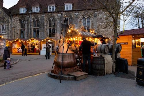 Winchester – en av de bästa julmarknaderna i Storbritannien.