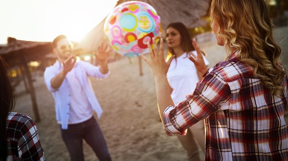 30 procent uppger att de har spelat bollsporter på stranden.
