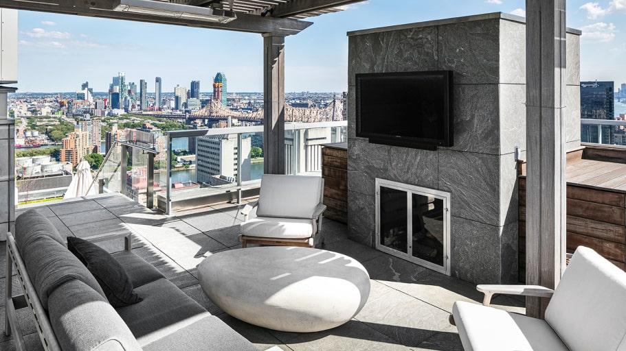 Vem skulle inte vilja sitta och titta på tv här?