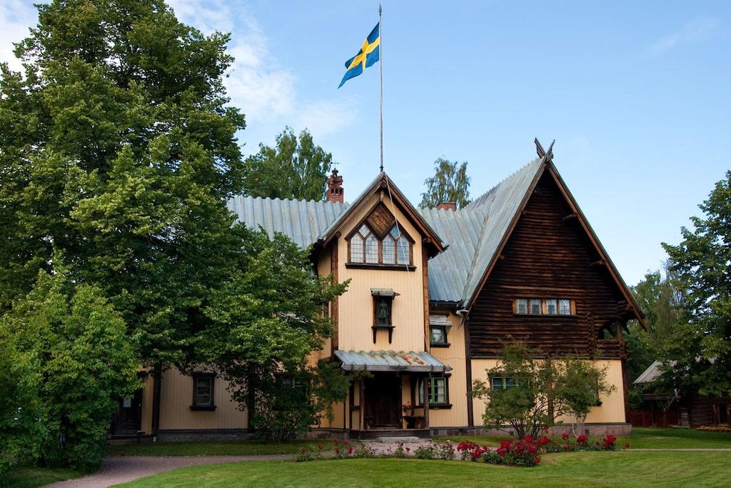 Zorngården är byggd och inredd av Anders Zorn och hans fru Emma.