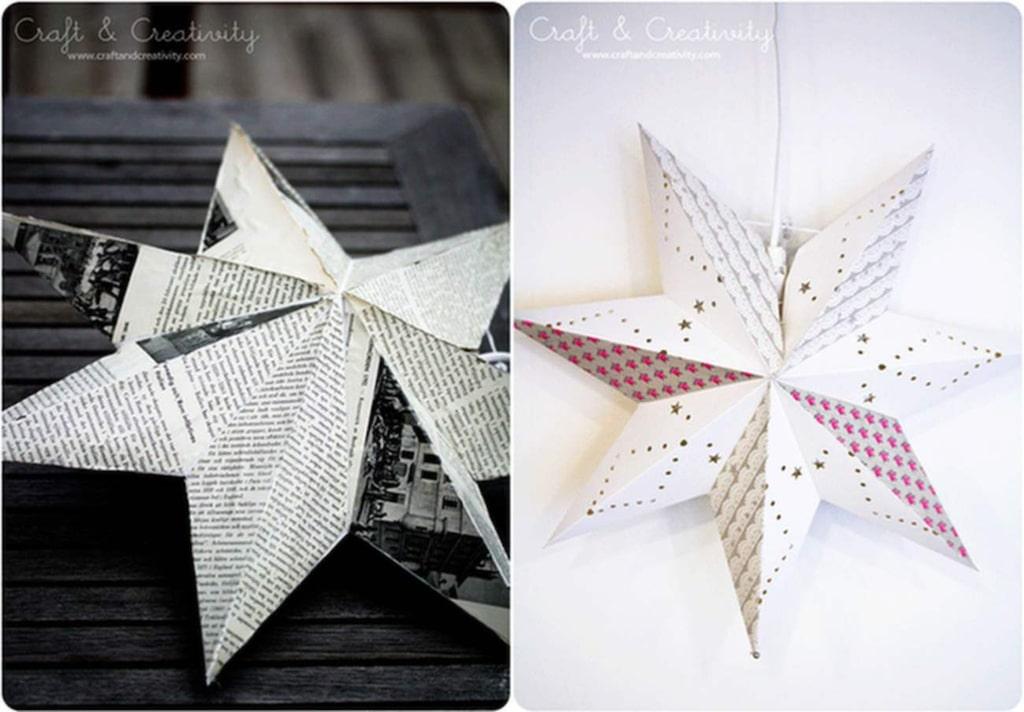 Så här fina kan dina gamla julstjärnor bli om du bestämmer dig för att pyssla lite.