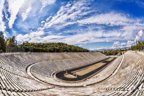 Panathinaikostadion var hemvist för de första moderna olympiska spelen 1896.