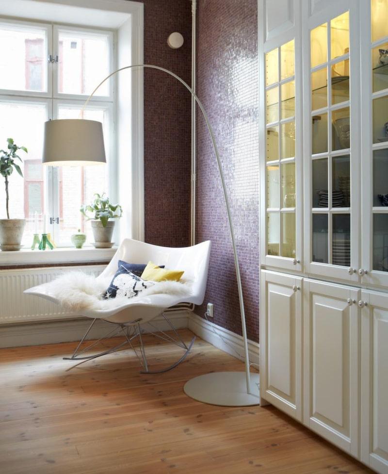Den iögonfallande gungstolen Stingray är designad av Thomas Pedersen för Fredericia furniture.
