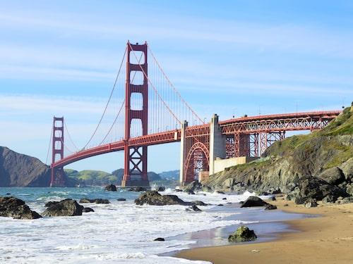 Den roströda bron Golden Gate Bridge tar sig in på en sjundeplats på topplistan för de mest populära sevärdheterna 2018.