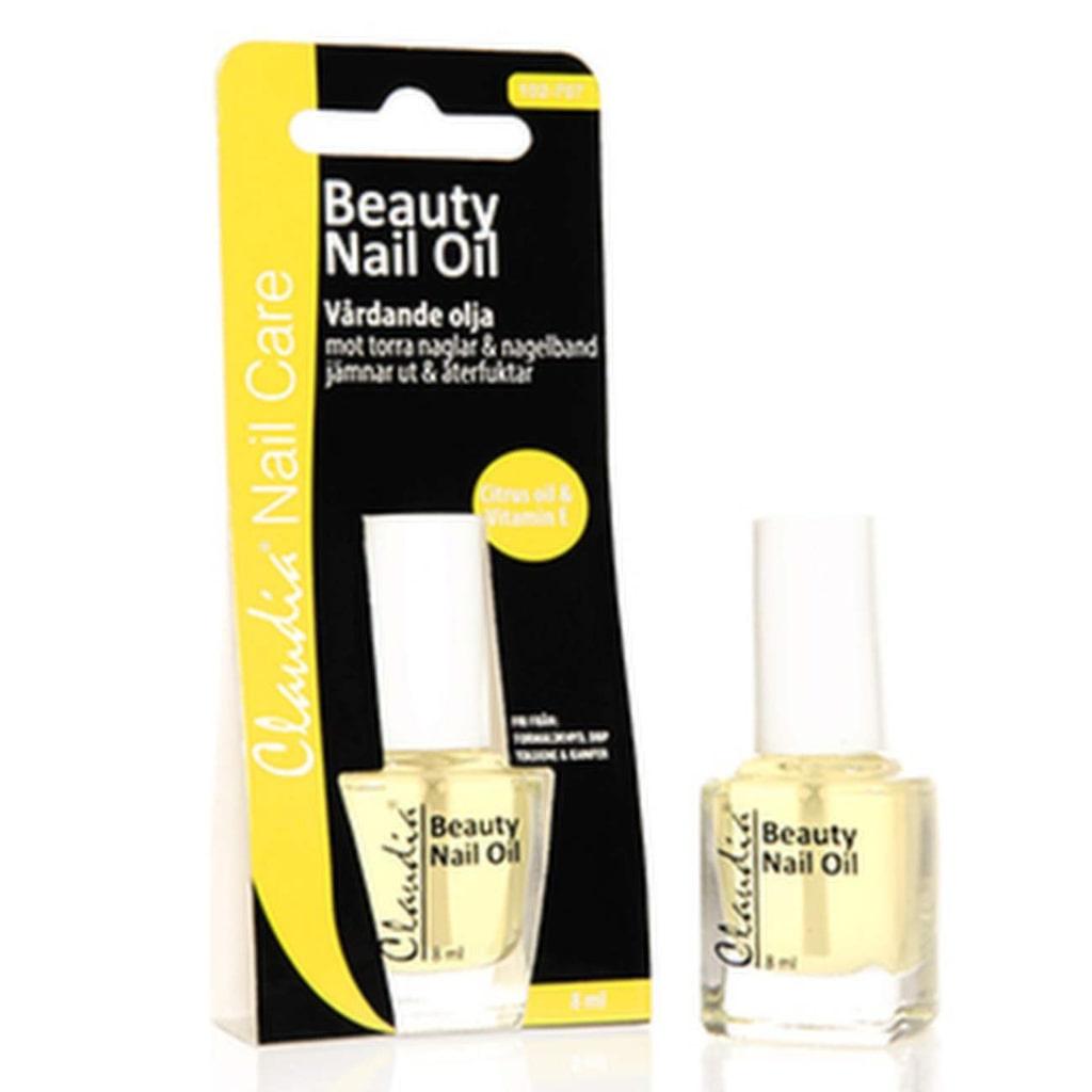 Nagel- och nagelbandsolja med vitamin E, Claudia Cosmetics, 8 ml, 49 kronor.