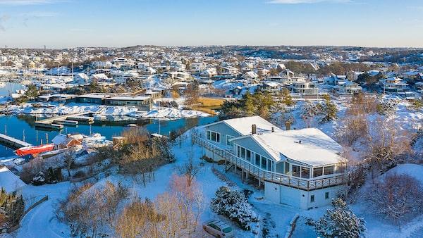 Lyxig villa för 25 miljoner kronor i Långedrag.