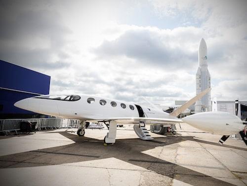 Det eldrivna passagerarplanet Alice visades upp på flygmässan i Paris i juni i år.