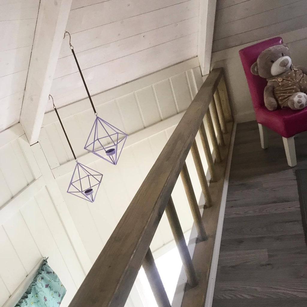 Mumin-huset har även ett loft.