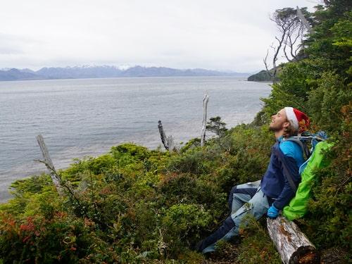 """Carl nära """"världens ände"""" vid Kap Froward i södra Chile."""