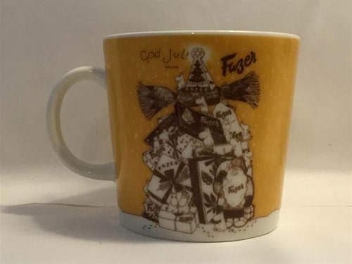 Den mest värdefulla av alla Muminmuggar är den så kallade Fazermuggen som tillverkades 2004 för Fazer kafé. Den gula muggen med julmotiv  gjordes i endast 400 exemplar och nr 1-20 gick direkt till Fazer. 380 exemplar såldes på kaféet och varje mugg är numrerad undertill.