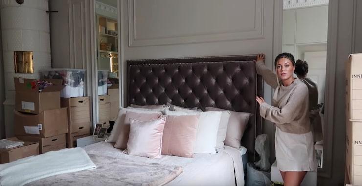 Sängen och några pallar har Bianca Ingrosso tagit med sig från sin gamla lägenhet. Nästan allt annat, inklusive sänggaveln, är nytt. Hon kommer dock även byta till en större, 180 säng.
