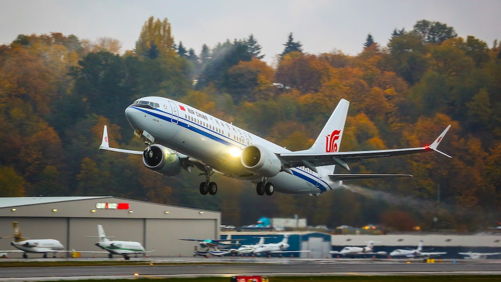 Flygplansmodellen Boeing 737 Max 8 känns främst igen på sina kluvna vingspetsar.